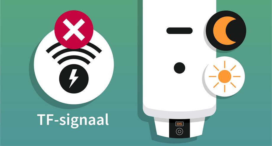 Einde TF-signaal | Werking elektrische boiler