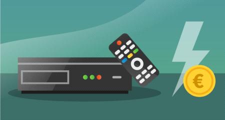 Wat is het stroomverbruik van een TV-ontvanger?