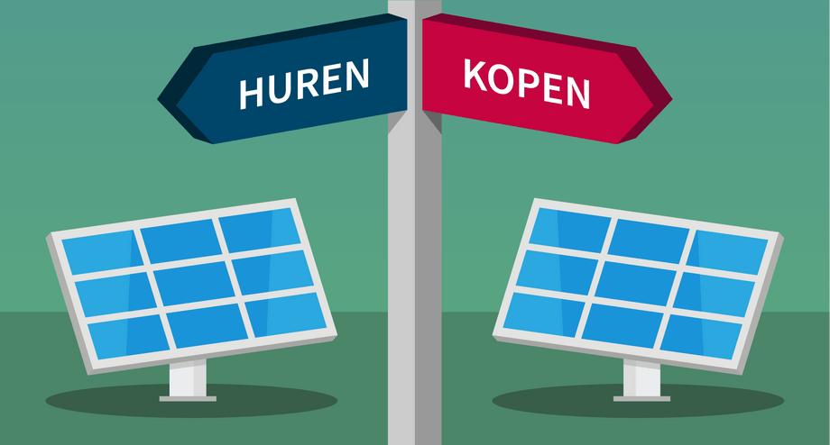 Zonnepanelen huren of kopen? | De verschillen