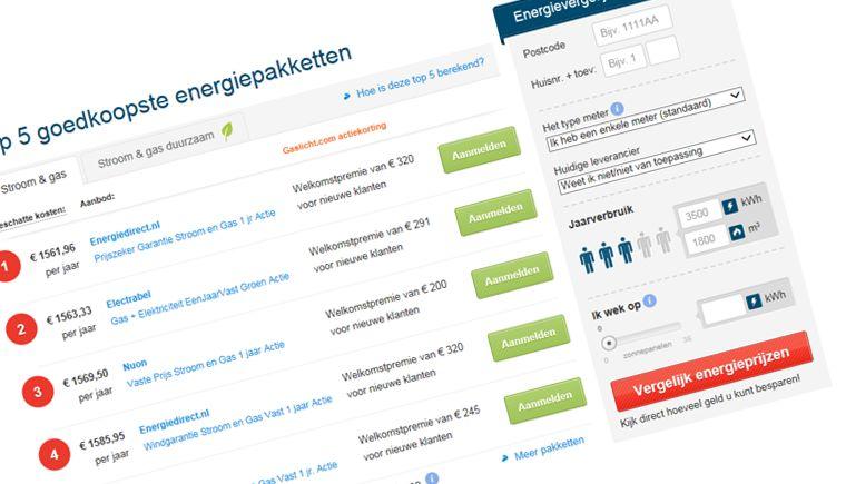Is het 1e het beste energiecontract in de Top 5?