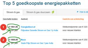 Energiecontract-minder-dan-1600 euro